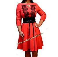 Платье вечернее с кружевом  Karmen