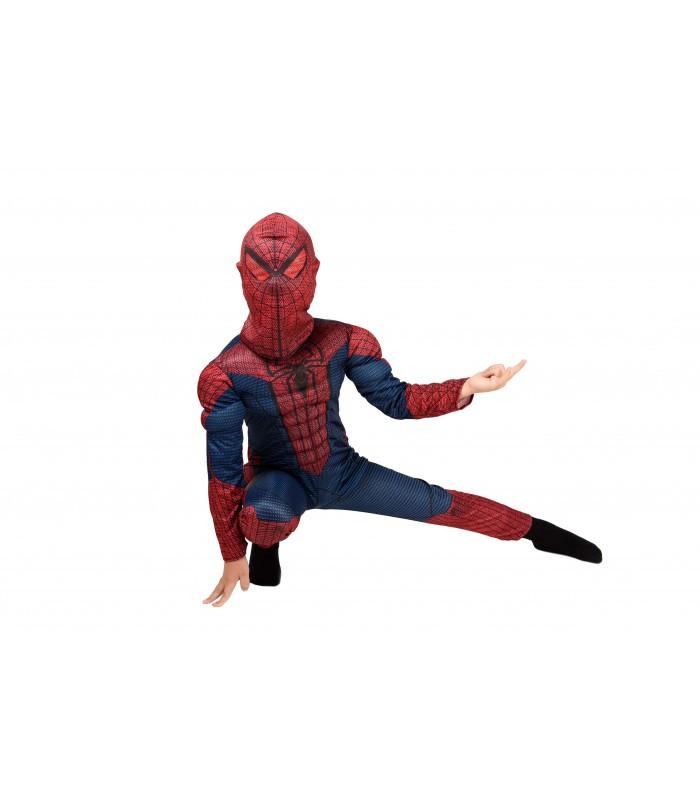 """Детский карнавальный костюм для мальчика """"Spider Man"""" с мышцами"""