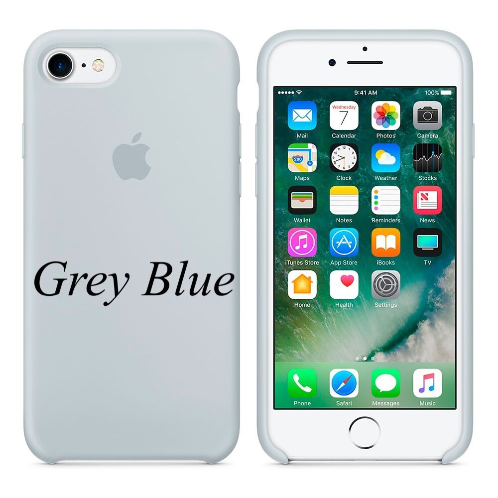 "Apple silicon case iPhone 7 ""Gray Blue"""