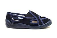 Тапки на мальчика темно - синие Vitaliya. Сменная обувь тапочки на липучке Украина р.28-32 31
