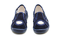 Тапки на мальчика темно - синие Vitaliya. Сменная обувь тапочки на липучке Украина р.28-32 31/32