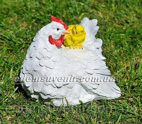 Садовая фигура Курица с цыпленком, фото 2