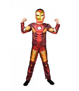 """Детский карнавальный костюм для мальчика """"Железный Человек"""" с мышцами"""