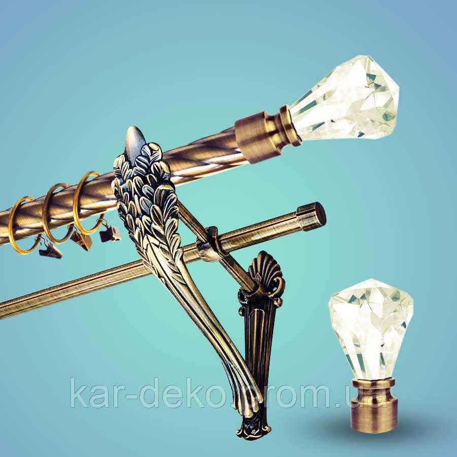 Карниз для штор металл Кристалл