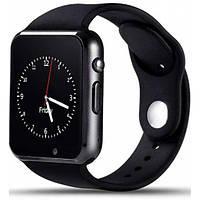 Смарт часы с камерой Smart Watch A1 в стиле Apple watch Black