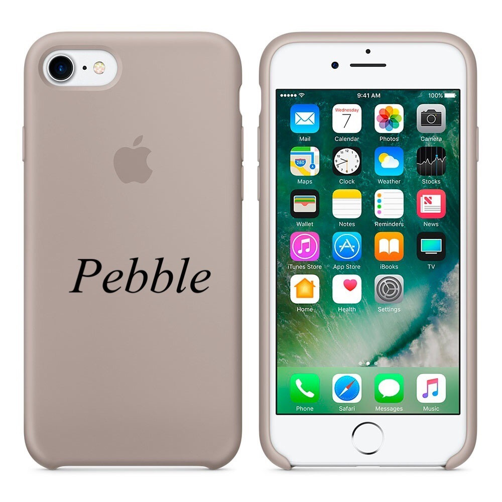 "Apple silicon case iPhone 7 ""Pebble"""