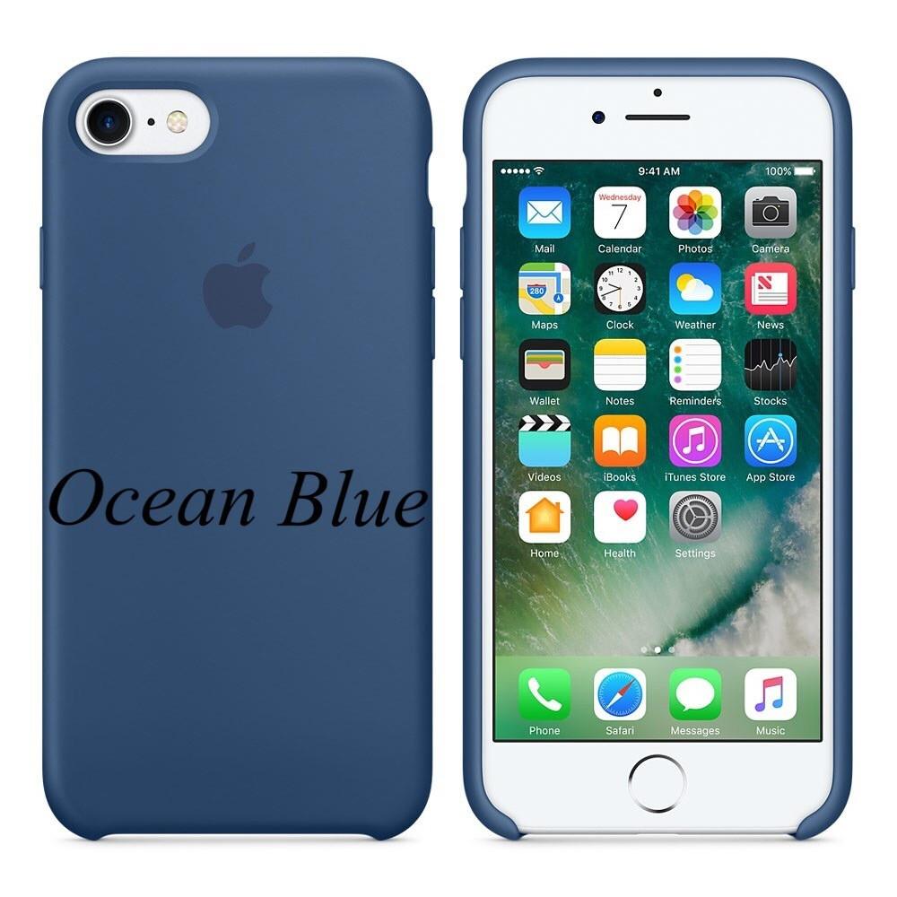 "Apple silicon case iPhone 7 ""Ocean Blue"""