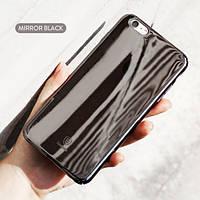 """Пластиковая накладка Baseus Glass Case для Apple iPhone 6/6s plus (5.5"""") Черный Mirror"""