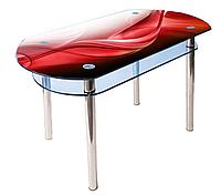 Стол стеклянный прямоугольный с заокруглеными сторонами КС-5, фото 1