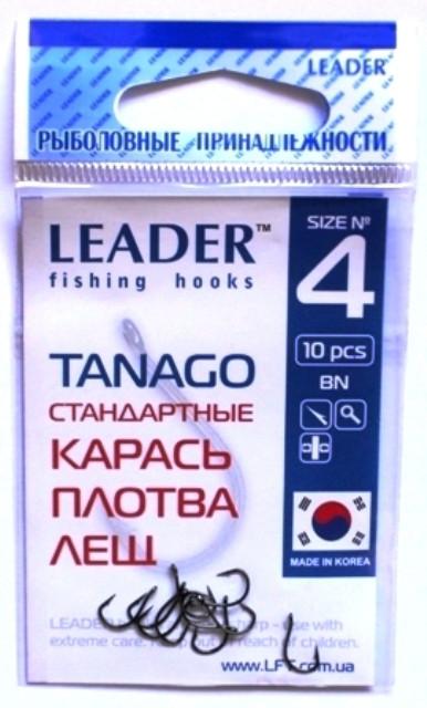 Рыболовные крючки Лидер TANAGO BN №4, 10 шт