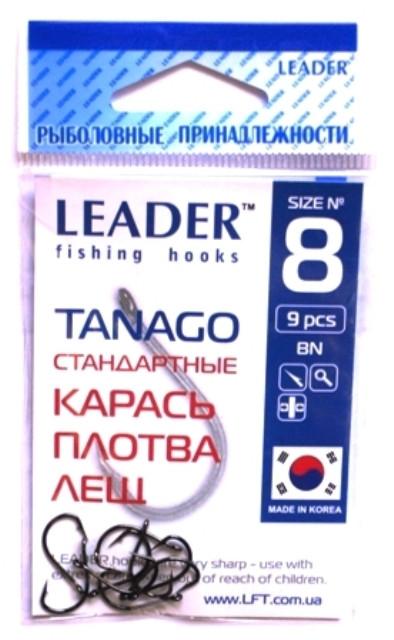 Крючки рыболовные Лидер TANAGO BN №8, 9 шт