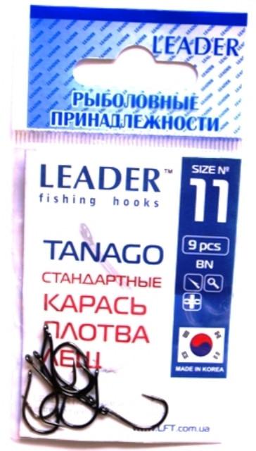 Крючки Leader TANAGO BN №11, 9 шт