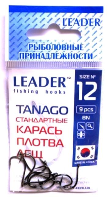 Крючки рыболовные Лидер TANAGO BN №12, 9 шт