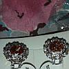 Крупный морганит и белый топаз. Серебряное кольцо 17р