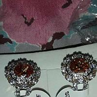 Крупный морганит и белый топаз. Серебряное кольцо 17р, фото 1
