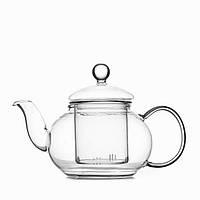 Чайник стеклянный заварочный со стеклянным ситечком Helios 600мл
