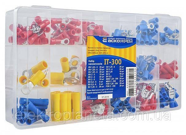 Набор наконечников под винт, вилочных, коннекторов изолированных IT - 300