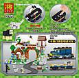 "Конструктор Lele 33173 ""Железнодорожная станция"" Майнкрафт аналог Lego с мотором, 1080 деталей., фото 3"