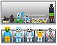"Конструктор Lele 33173 ""Железнодорожная станция"" Майнкрафт аналог Lego с мотором, 1080 деталей., фото 6"