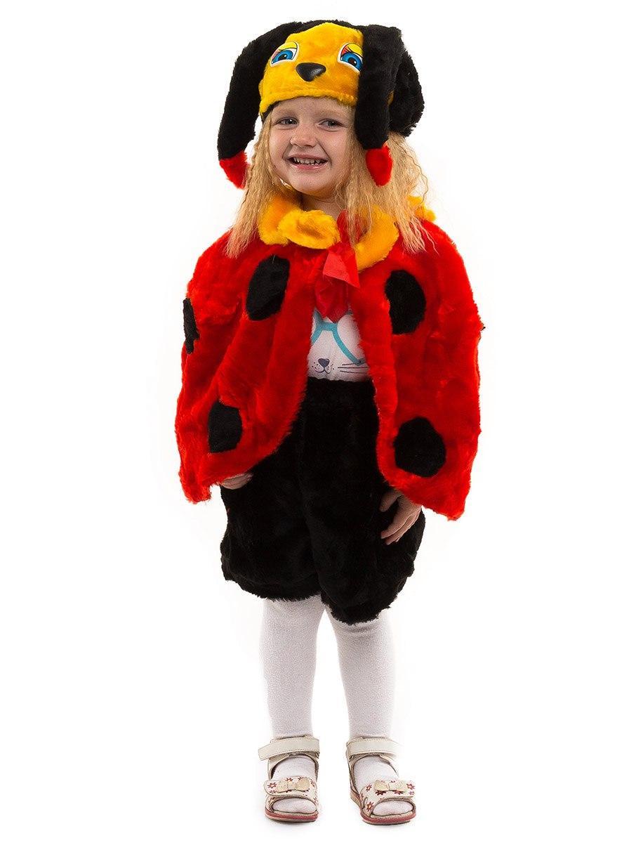"""Детский карнавальный меховой костюм """"Божья Коровка"""" для малышей"""