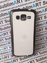 Чехол для 2D сублимации пластиковый матовый на Samsung G7102 Galaxy Grand 2 Duos черный, фото 2