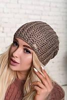 Красивая шапка объемной вязки. Качество ЛЮКС шерсть, фото 1