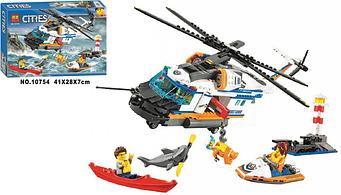 """Конструктор Bela 10754 """"Надпотужний рятувальний вертоліт"""" 439 деталей. (Аналог LEGO City 60166)"""