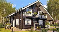 Деревянный двухэтажный дом из профилированного клееного бруса 12х10 м, фото 1