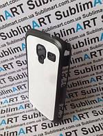Чехол для 2D сублимации пластиковый матовый на Samsung I8160 Galaxy Ace II черный