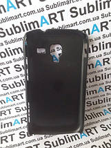 Чехол для 2D сублимации пластиковый матовый на Samsung I8160 Galaxy Ace II черный, фото 2