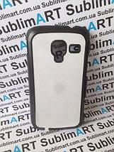 Чехол для 2D сублимации пластиковый матовый на Samsung I8160 Galaxy Ace II черный, фото 3
