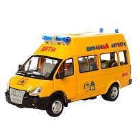 Коллекционная инерционная модель (детская машинка) - Газель Школьный автобус, 9707-C