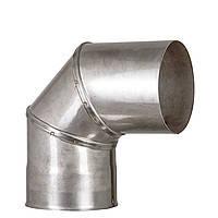 Колено 90, D120 толщина 0,8 мм  AISI 304 (фиксированное)