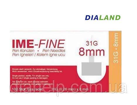 Иглы ИМЕ-ФАЙН ( IME-FINE ) для шприц-ручек 31G*8мм