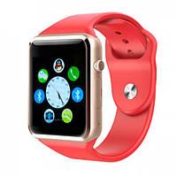 Смарт часы с камерой Smart Watch A1 в стиле Apple watch Red