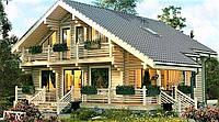 Дом двухетажный из профилированного бруса 12х14 м