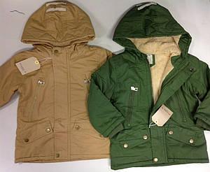 Демисезонная куртка с капюшоном для мальчиков с 3 до 12 лет