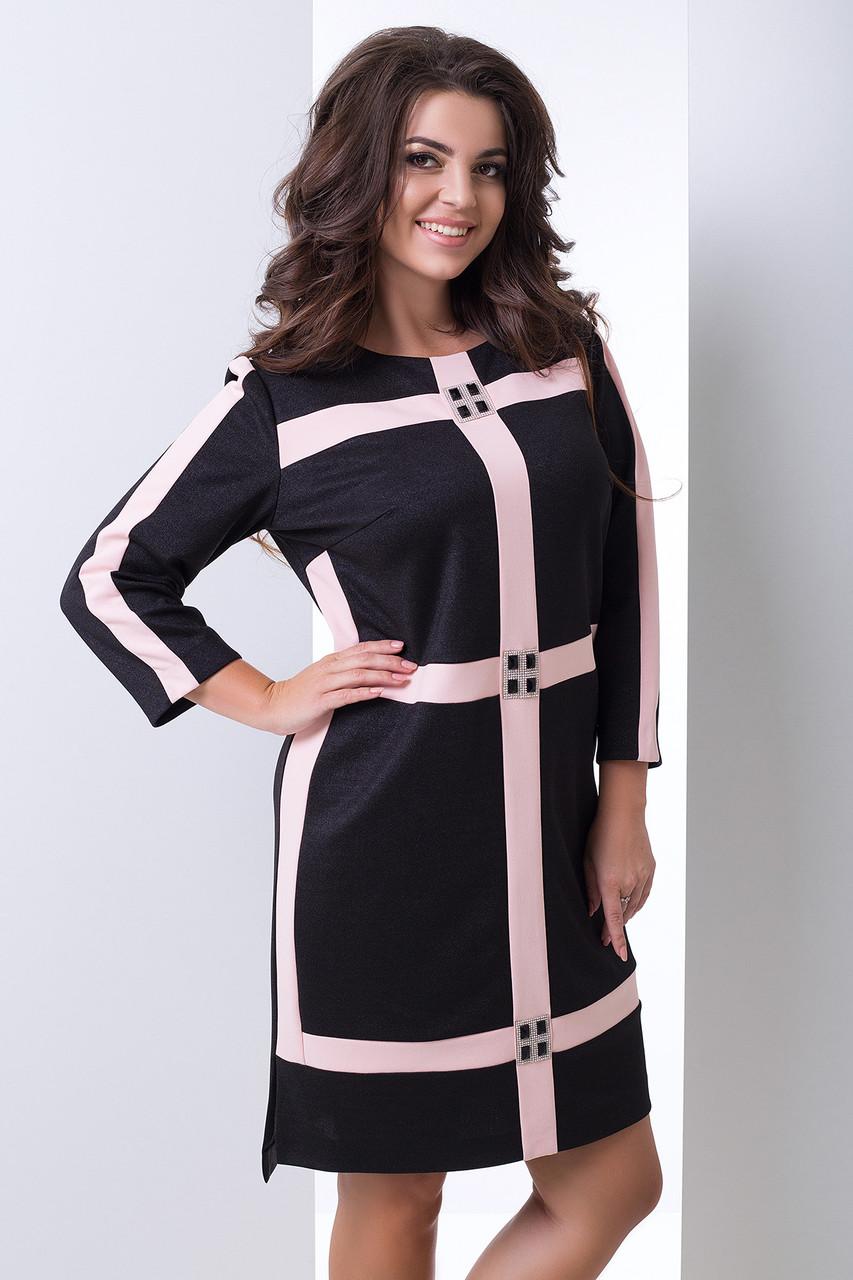 Нарядное платье со стразами с 50 по 56 размеры