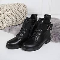 Ботинки зимние LV с широким ремешком черные. Аналог, фото 1