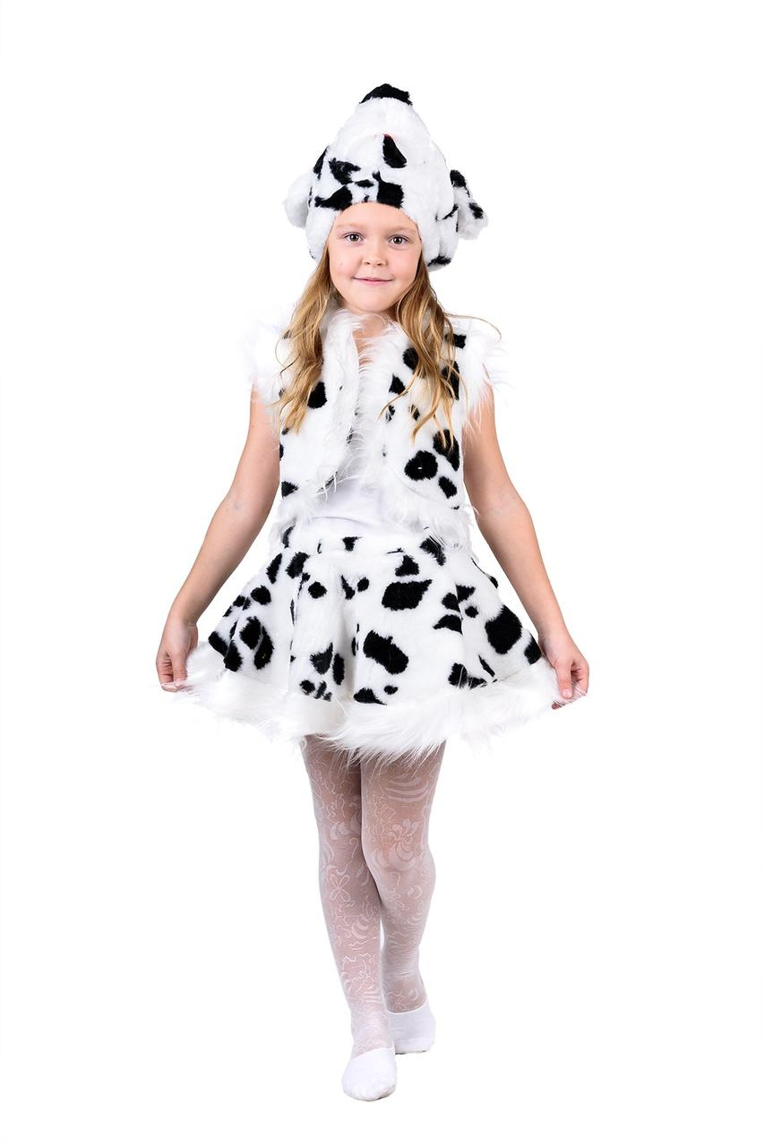 """Детский карнавальный меховой костюм """"Далматинец"""" для девочки"""