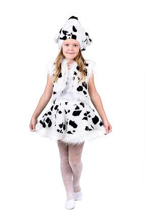 """Детский карнавальный меховой костюм """"Далматинец"""" для девочки, фото 2"""