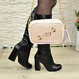 Шкіряна жіноча сумка. Виробництво Україна, фото 6
