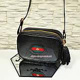 Кожаная женская сумка ручной роботы. Производство Украина, фото 2