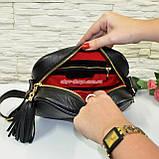 Кожаная женская сумка ручной роботы. Производство Украина, фото 5