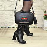 Кожаная женская сумка ручной роботы. Производство Украина, фото 6