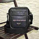 Чоловіча чорна шкіряна сумка ручної роботи. Виробництво Україна, фото 2