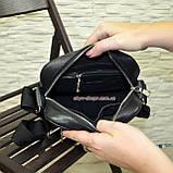 Чоловіча чорна шкіряна сумка ручної роботи. Виробництво Україна, фото 4