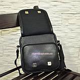 Чоловіча чорна шкіряна сумка ручної роботи. Виробництво Україна, фото 5