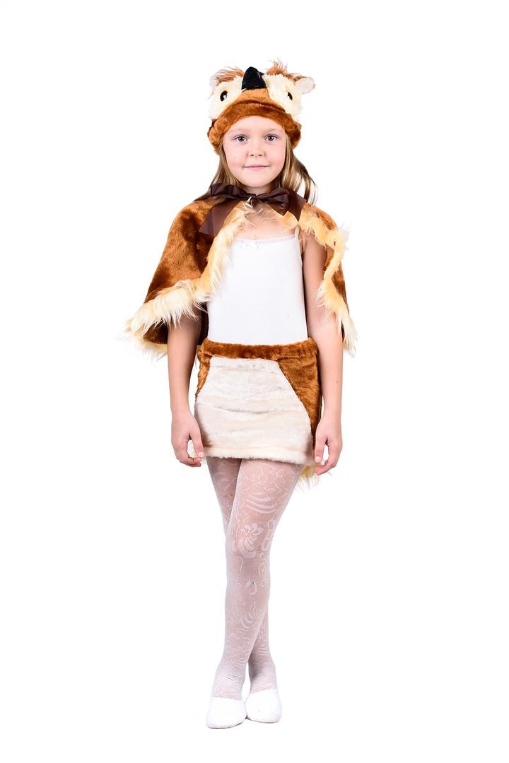 """Детский карнавальный меховой костюм """"Сова"""" для девочки"""