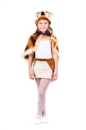 """Детский карнавальный меховой костюм """"Сова"""" для девочки, фото 2"""